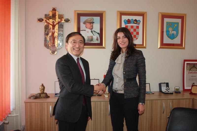 Japanski veleposlanik u Kninu; Upoznat će japanske turističke agencije s ljepotama Knina