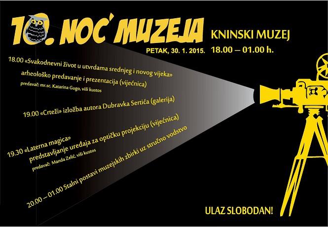 U petak, 30. siječnja na tvrđavi Noć muzeja