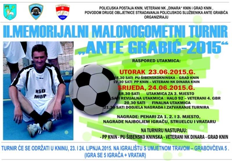 """II. Memorijalni malonogometni turnir """"Ante Grabić –2015"""""""