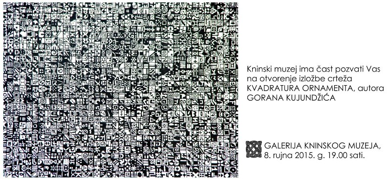 """U utorak na tvrđavi izložba """"Kvadratura ornamenta"""" akademskog slikara Gorana Kujundžića"""