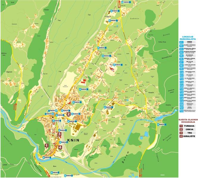 Preuzmite kartu grada sa označenim parkiralištima za 5. kolovoza