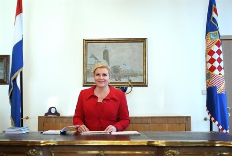 Predsjednica Republike Hrvatske Kolinda Grabar-Kitarović u ponedjeljak u Kninu