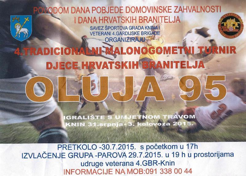Četvrti Tradicionalni malonogometni turnir djece hrvatskih branitelja