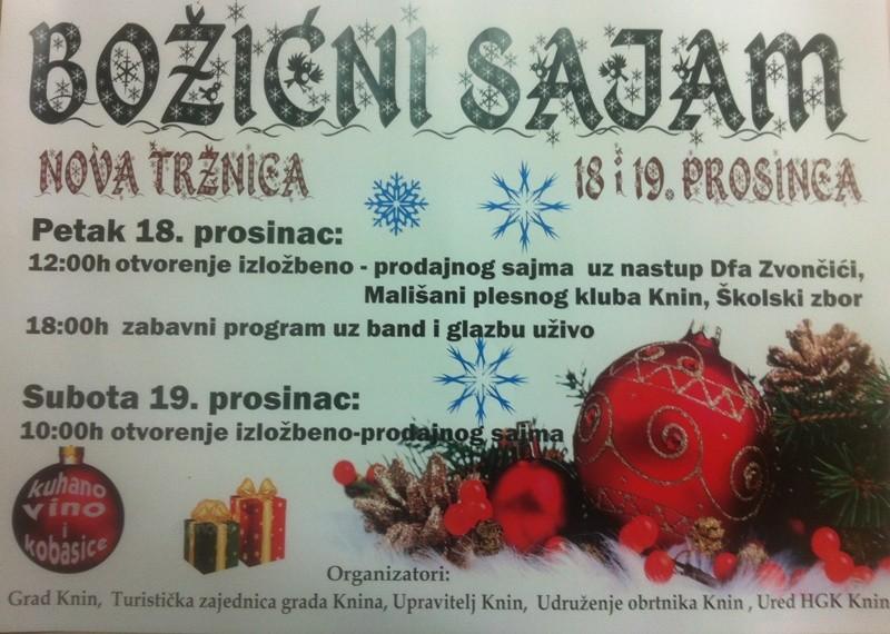 Božićni sajam 18. i 19. prosinca
