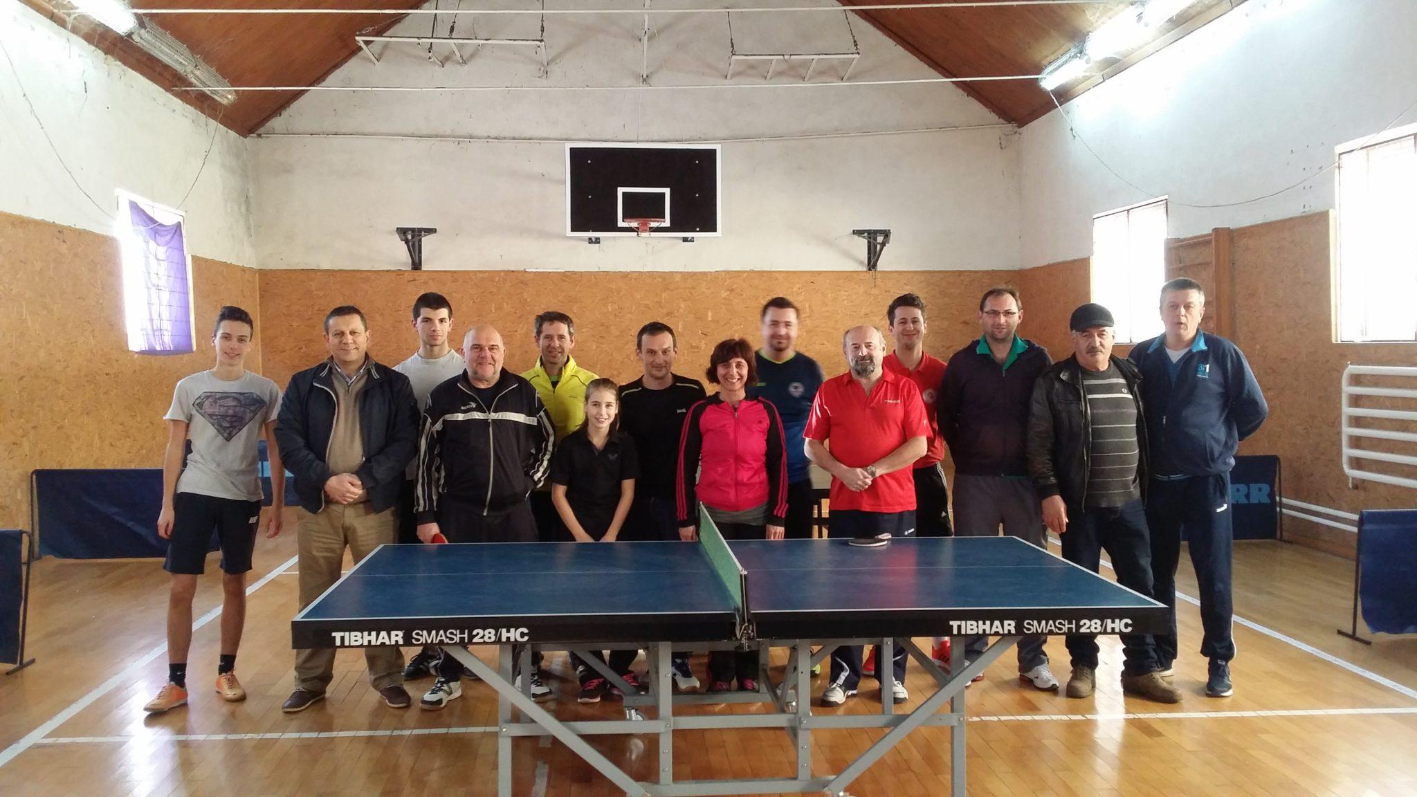 Tradicionalni Božićni ekipni turnir u stolnom tenisu između gradova Šibenika, Zatona i Knina
