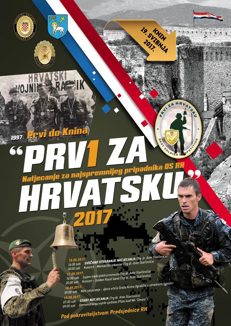 """NAJAVA – Natjecanje za najspremnijeg pripadnika OS RH """"Prvi za Hrvatsku 2017."""""""