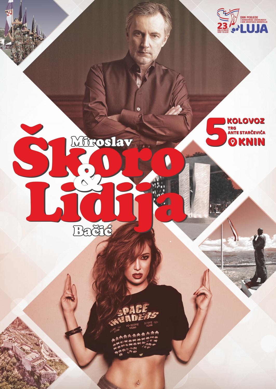 Najava koncerta Miroslava Škore i Lidije Bačić