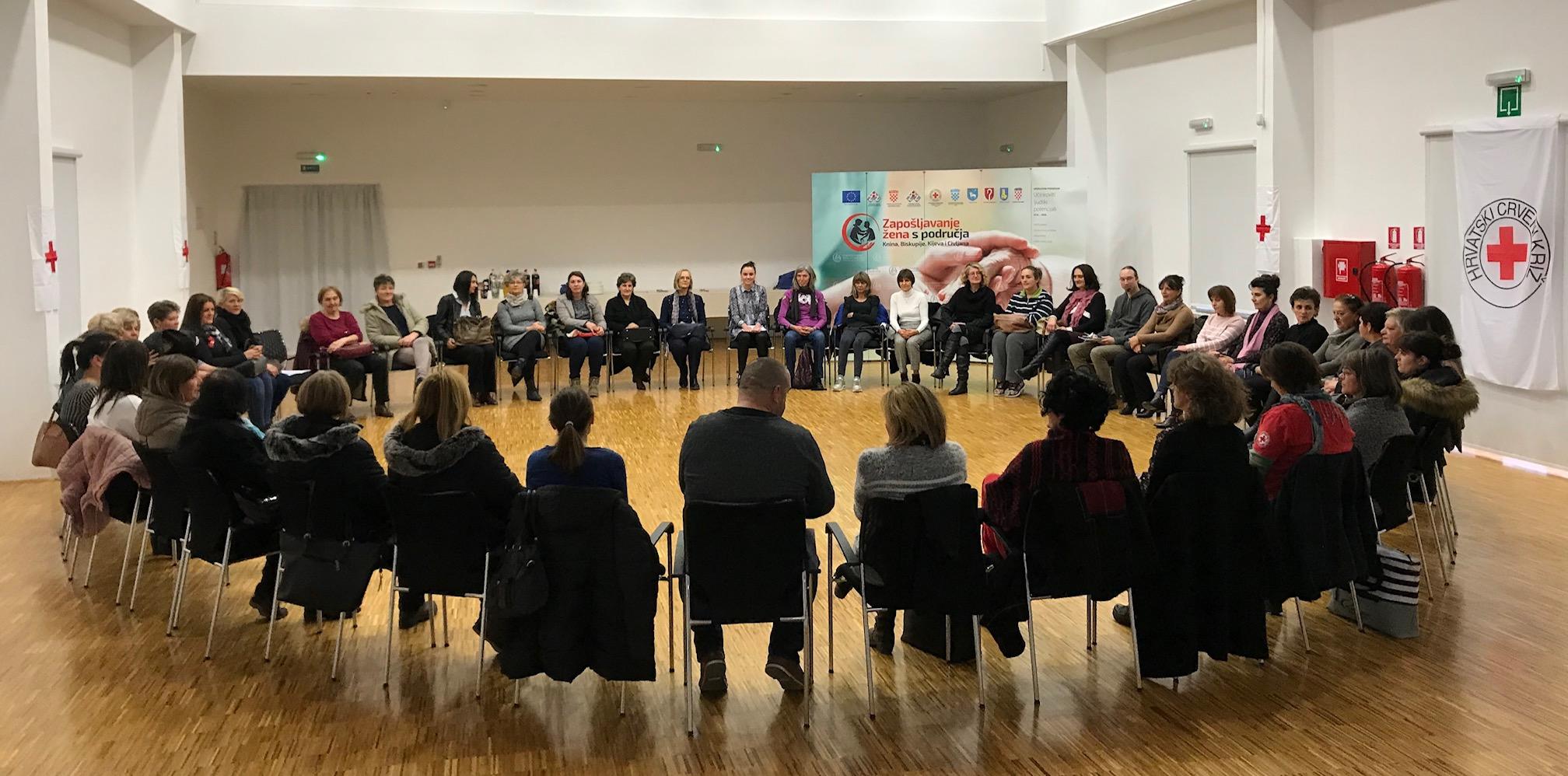 """U prvih pola godine projekta """"Zapošljavanje žena s područja Knina, Biskupije, Kijeva i Civljana"""" pruženo preko 46.000 usluga korisnicima"""