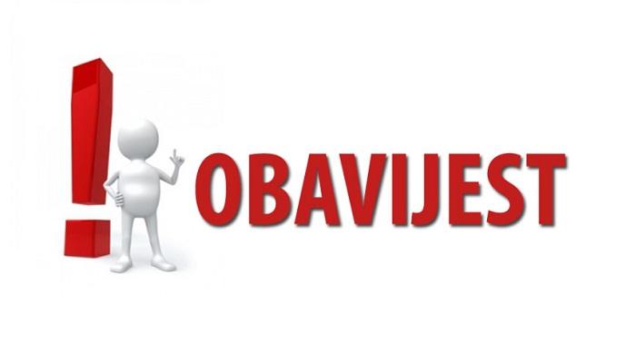 OBAVIJEST  I  UPUTE uz javni natječaj za prijam u službu vježbenika