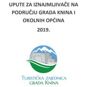 Upute za iznajmljivače na području Grada Knina i okolnih općina 2019