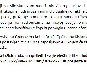 Pokreni se! Sa ZvoniMirom, Gradovima Knin i Drniš, Općinama Kistanje i Biskupija i HZZ-om – Područni ured Šibenik