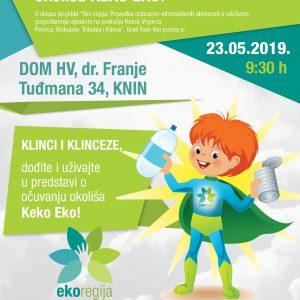 """Grad Knin u sklopu projekta """"Eko regija"""" poziva sve klince i klinceze na lutkarsku predstavu o očuvanju okoliša """"Keko Eko"""""""
