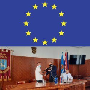 Svečano potpisivanje ugovora za izgradnju javne rasvjete duž staze uz Krku i uređenje sportsko-rekreacijske zone Marunuša